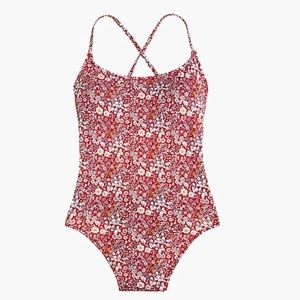 J. Crew Lace-up Back One-piece Swimsuit
